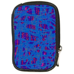 Deep blue pattern Compact Camera Cases