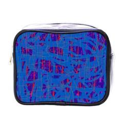 Deep blue pattern Mini Toiletries Bags