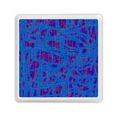 Deep blue pattern Memory Card Reader (Square)