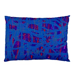 Deep blue pattern Pillow Case (Two Sides)