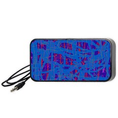 Deep blue pattern Portable Speaker (Black)