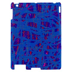 Deep blue pattern Apple iPad 2 Hardshell Case
