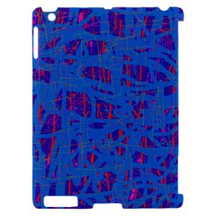 Deep blue pattern Apple iPad 2 Hardshell Case (Compatible with Smart Cover)