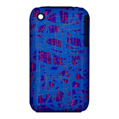 Deep blue pattern Apple iPhone 3G/3GS Hardshell Case (PC+Silicone)
