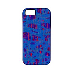 Deep blue pattern Apple iPhone 5 Classic Hardshell Case (PC+Silicone)