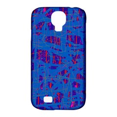 Deep blue pattern Samsung Galaxy S4 Classic Hardshell Case (PC+Silicone)
