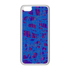 Deep blue pattern Apple iPhone 5C Seamless Case (White)