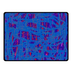 Deep blue pattern Double Sided Fleece Blanket (Small)