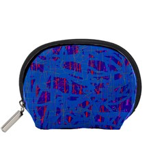 Deep blue pattern Accessory Pouches (Small)