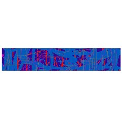 Deep blue pattern Flano Scarf (Large)