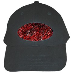 Red and black pattern Black Cap