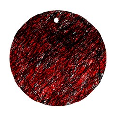 Red and black pattern Ornament (Round)