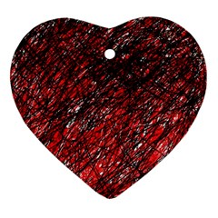 Red and black pattern Ornament (Heart)