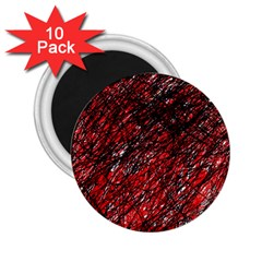 Red and black pattern 2.25  Magnets (10 pack)
