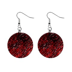 Red and black pattern Mini Button Earrings
