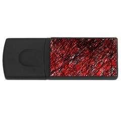 Red and black pattern USB Flash Drive Rectangular (2 GB)