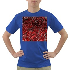 Red and black pattern Dark T-Shirt