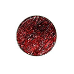 Red and black pattern Hat Clip Ball Marker (4 pack)
