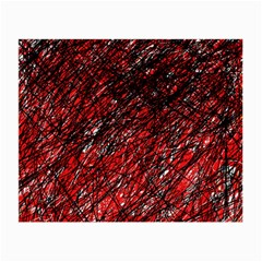 Red and black pattern Small Glasses Cloth