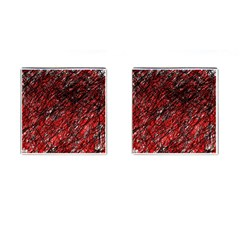 Red and black pattern Cufflinks (Square)