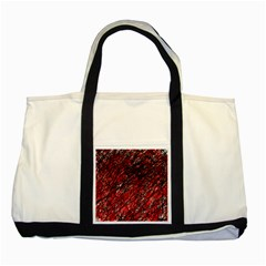 Red and black pattern Two Tone Tote Bag