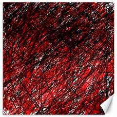 Red and black pattern Canvas 16  x 16