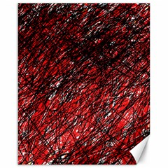 Red and black pattern Canvas 16  x 20