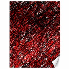 Red and black pattern Canvas 36  x 48