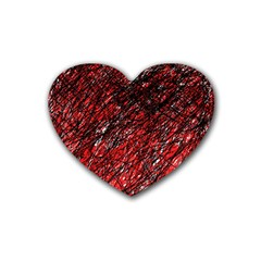 Red and black pattern Heart Coaster (4 pack)