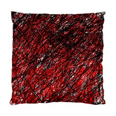 Red and black pattern Standard Cushion Case (One Side)