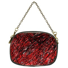 Red and black pattern Chain Purses (Two Sides)