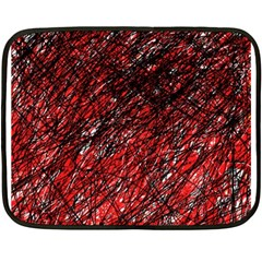 Red and black pattern Double Sided Fleece Blanket (Mini)