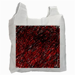 Red and black pattern Recycle Bag (One Side)