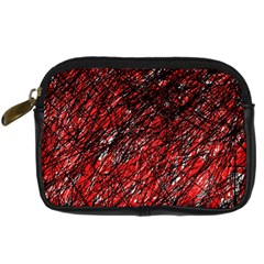 Red and black pattern Digital Camera Cases