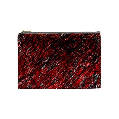 Red and black pattern Cosmetic Bag (Medium)