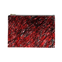 Red and black pattern Cosmetic Bag (Large)