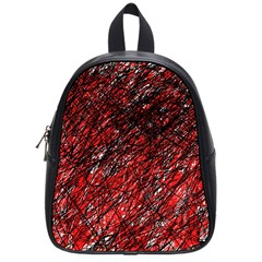 Red and black pattern School Bags (Small)