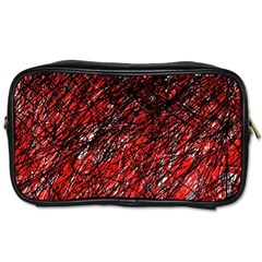 Red and black pattern Toiletries Bags