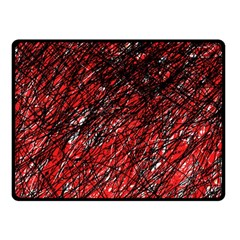 Red and black pattern Fleece Blanket (Small)