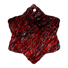 Red and black pattern Ornament (Snowflake)