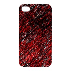 Red and black pattern Apple iPhone 4/4S Hardshell Case