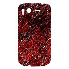Red and black pattern HTC Desire S Hardshell Case