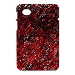 Red and black pattern Samsung Galaxy Tab 7  P1000 Hardshell Case