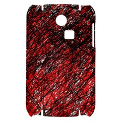 Red and black pattern Samsung S3350 Hardshell Case