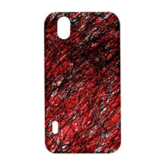 Red and black pattern LG Optimus P970