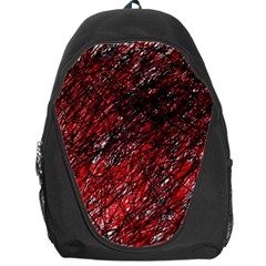 Red and black pattern Backpack Bag