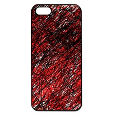 Red and black pattern Apple iPhone 5 Seamless Case (Black)
