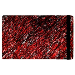 Red and black pattern Apple iPad 3/4 Flip Case