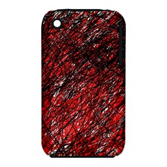 Red and black pattern Apple iPhone 3G/3GS Hardshell Case (PC+Silicone)