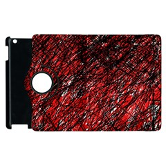 Red and black pattern Apple iPad 2 Flip 360 Case